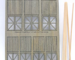 1:120 Scale Laser Cut Freight Doors