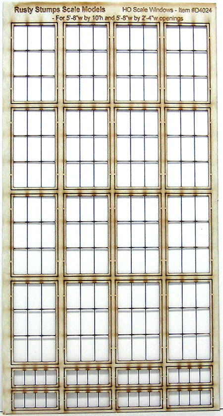 HO Scale Storefront factory Window Assortment #1