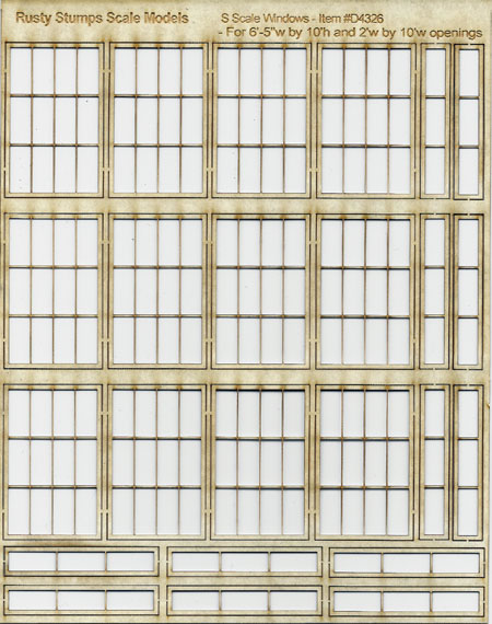 S Scale Store Front Factory Window Assortment #3
