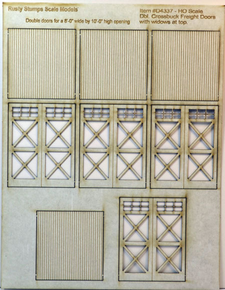 S Scale Crossbuck Tall Freight Doors w  Lites