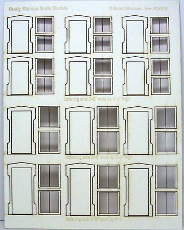 O Scale Peaked Windows