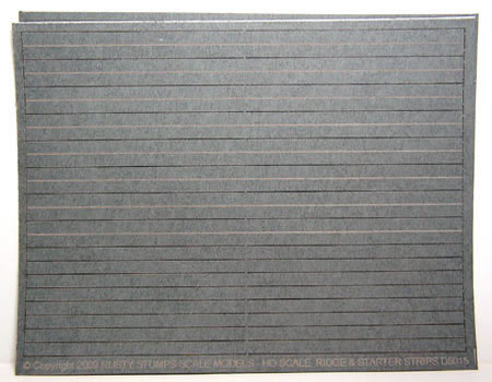 HO Scale Ridge Cap and Start Strip Sheet