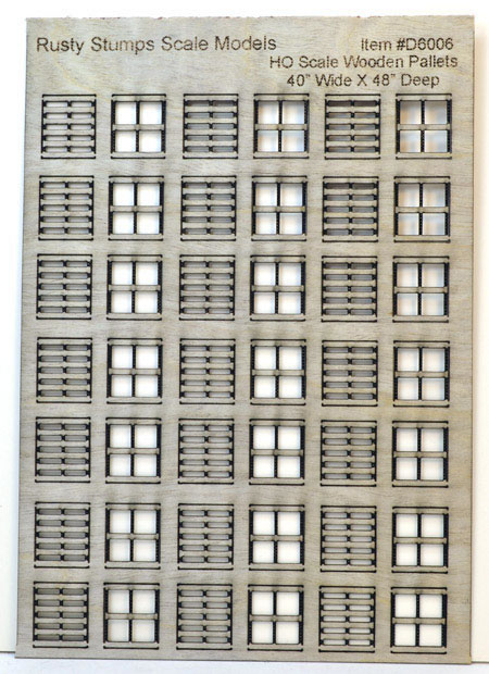 HO Scale 40x48 Inch Wooden Pallets