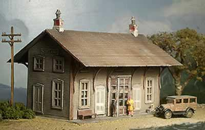 DL&W Station ~ HO Scale