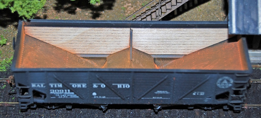 War Emergency Hopper Interior Wood Siding ~ HO scale