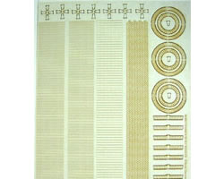 O Scale Common Brick Trim Sheet 1