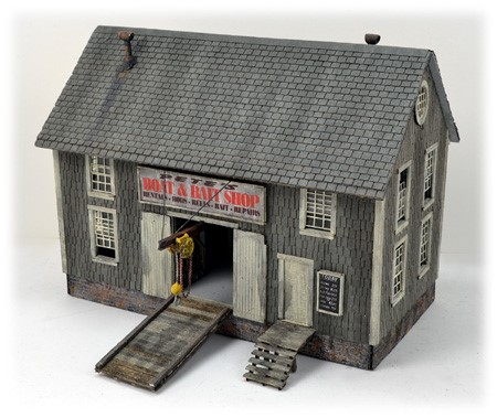Pete's Boat and Bait Shop ~ HO Scale