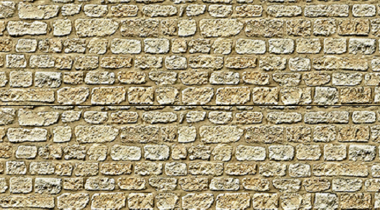S Scale Cut Stone Wall Sheet ~ 9in Rows