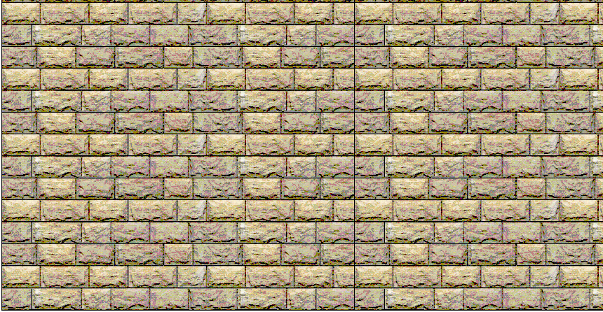 HO Scale Cut Stone Block Wall Sheet ~ 12in Rows