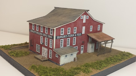 Burgin's Flour and Feed ~ N scale