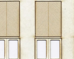 HO Scale Fancy Panel Freight Doors 6 ft wide