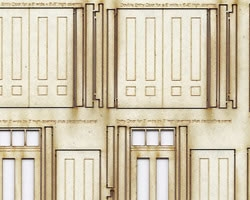 HO Scale Variety of Doors