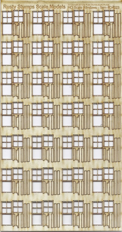 HO Scale 28 2ft~6in x 5ft~3in Double Sash Windows