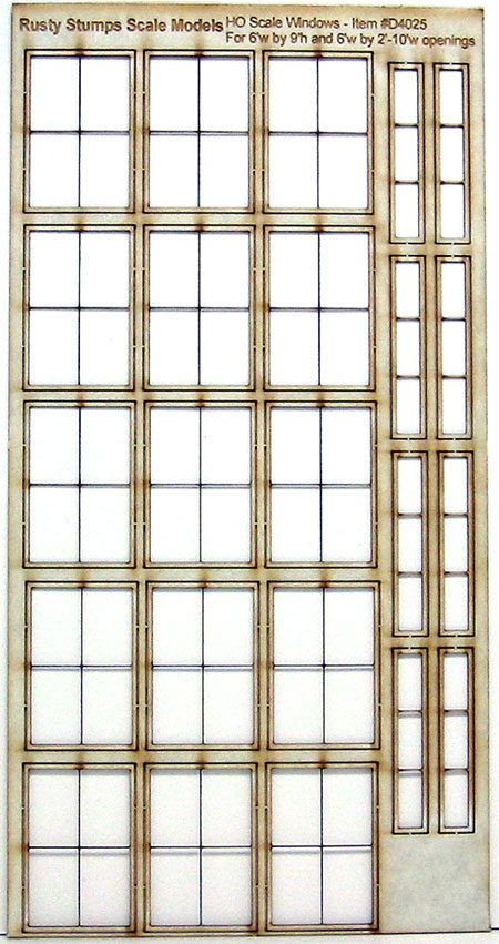 HO Scale Storefront Factory Window Assortment #2