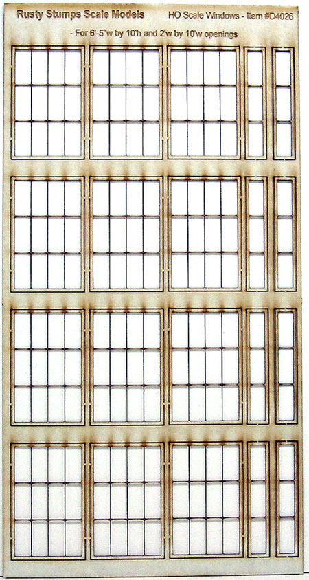 HO Scale Storefront Factory Window Assortment #3