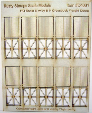 HO Scale Laser Cut 6x8 Fancy Freight Doors