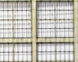 HO Scale 4x8 Thin Frame Factory Style Windows