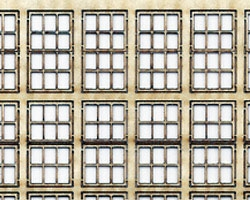 HO Scale Double Hung Windows for 2ft~6in by 4ft~6in Opening