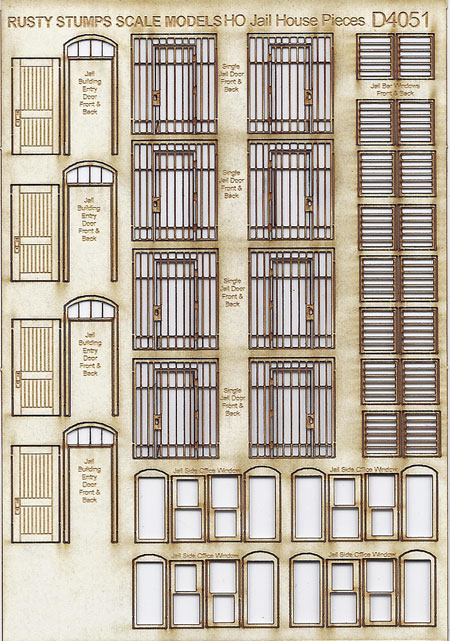 HO Scale Jail House Pieces