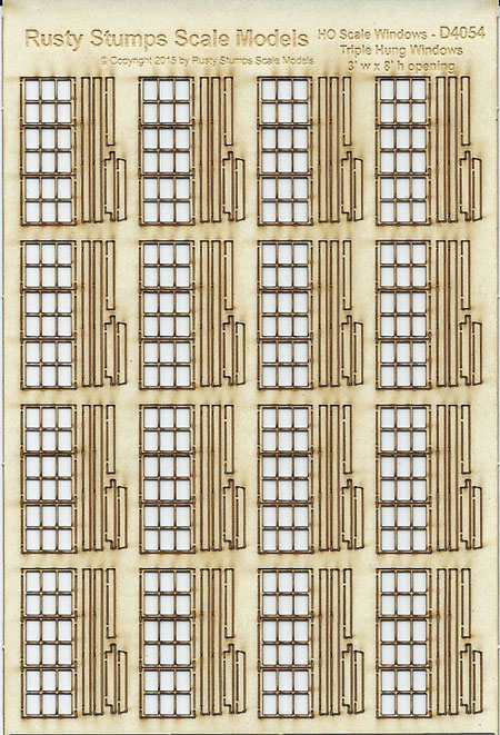 HO Scale Triple Hung Windows