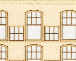 HO Scale Rounded Top Double Sash Windows