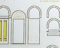 S Scale Fancy Round Top Windows and Doors
