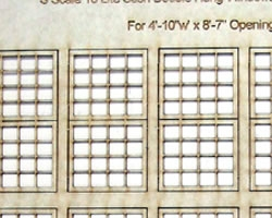 S Scale 16 Lite Sash ~ Double Hung Windows
