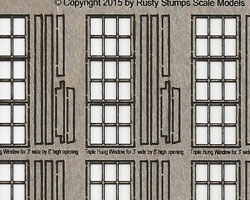 S Scale Triple Sash Windows