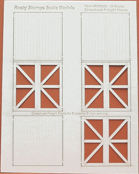 O Scale Crossbuck Freight Doors