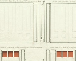 O Scale Variety of Doors