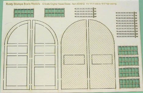 O Scale Round House Doors