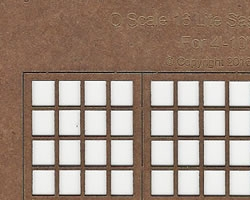 O Scale Laser cut 16 light Double Hung Windows