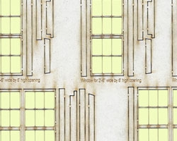 O Scale 2 ft 6 inch wide Windows and Doors