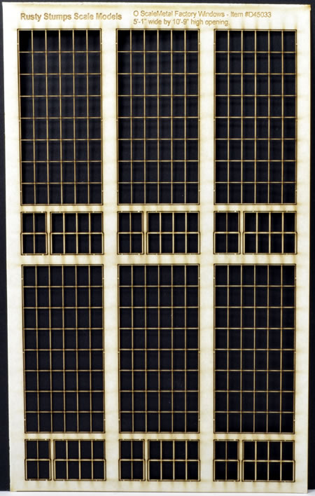 O Scale 6x8 Thin Frame Factory Style Windows