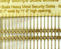 O Scale Heavy Metal Security Gates