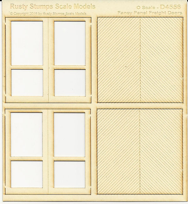 O Scale Large Fancy Panel Freight Doors
