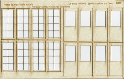 1:35 Scale Windows and Doors