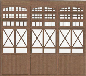 1:35 Scale Crossbuck Freight Doors with Lites