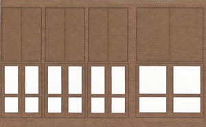 1:35 Scale Fancy Panel Freight Doors 6 ft wide