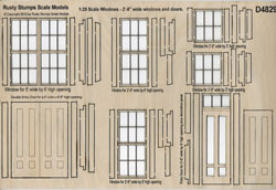 1:25 ~ 2ft 6 inch wide Windows and Doors