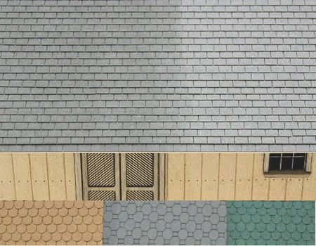 S Scale Three Tab Asphalt Shingles