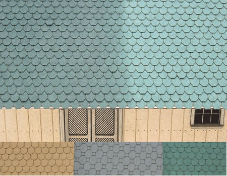 HO Octagon Cut Shingles