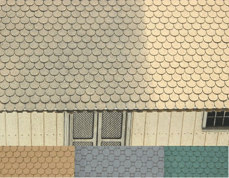 N scale Round Cut Shake Shingles