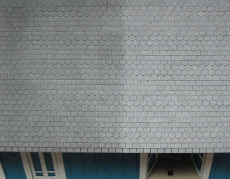 O Scale Square Cut Slate Shingles