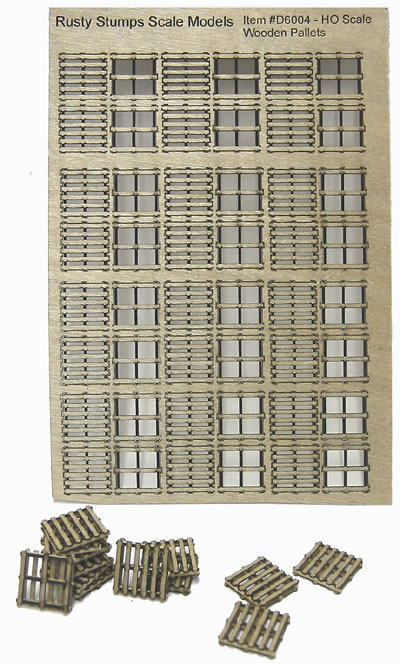 HO Scale 48x48 InchWooden Pallets Kit