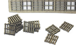 S Scale 48x48 Inch Wooden Pallets
