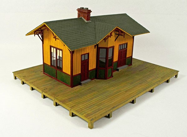 Fall Creek Passenger Station ~ S Scale