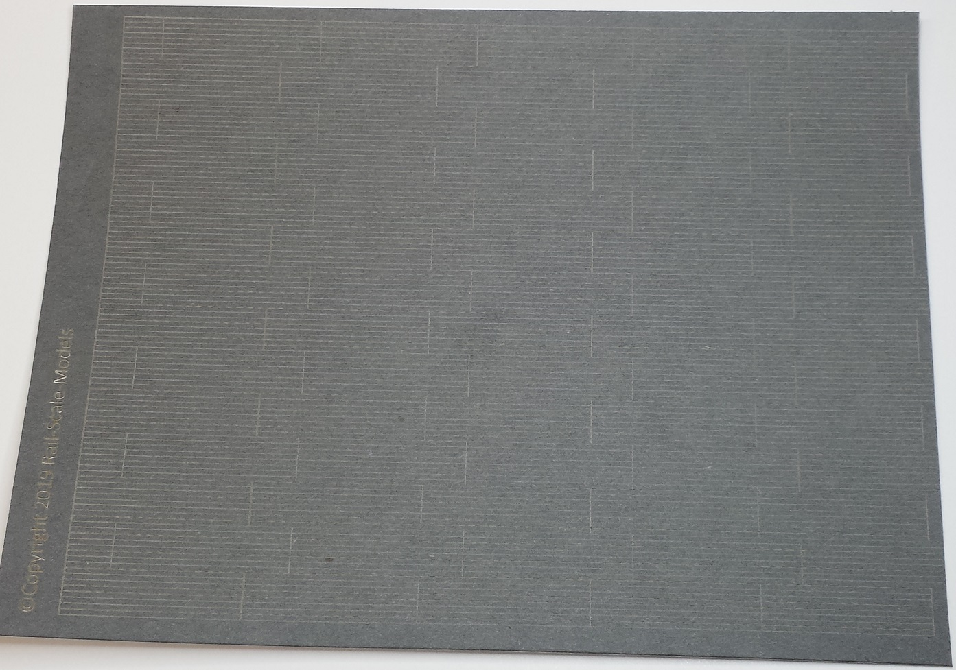 HO Scale Scribed Clapboard Tarpaper Sheet