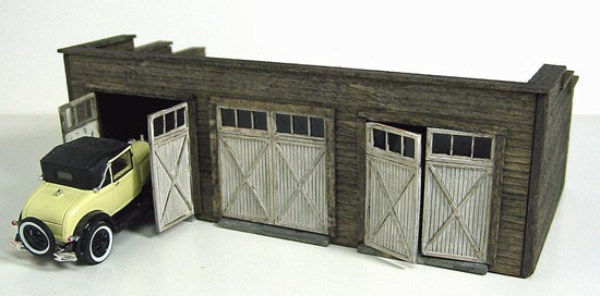 3 Stall Garage ~ S scale