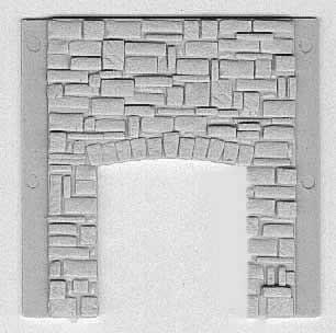 Stone Wall Section with Freight Door Opening ~ HO Scale